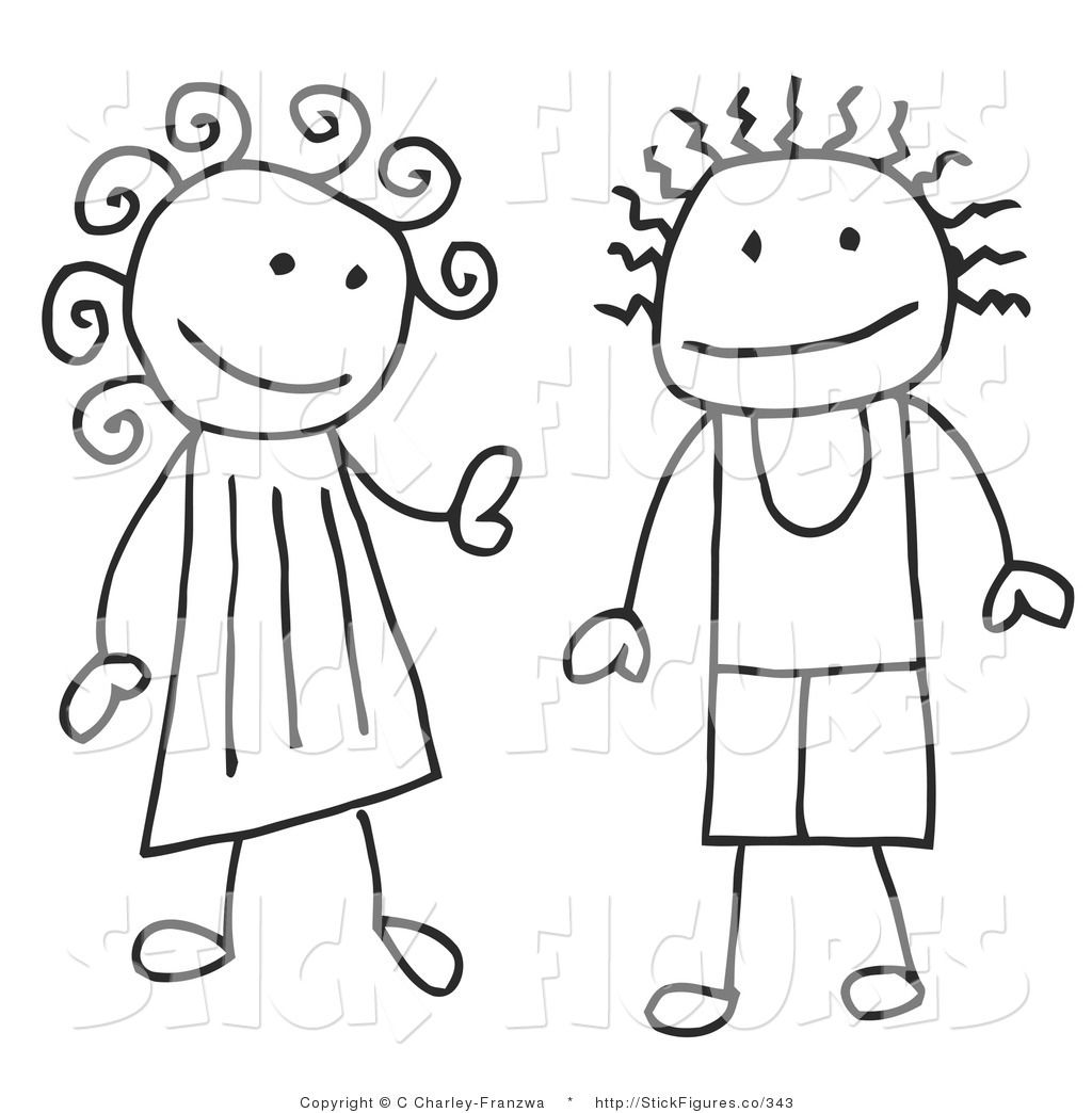 free stick person coloring pages - photo#5