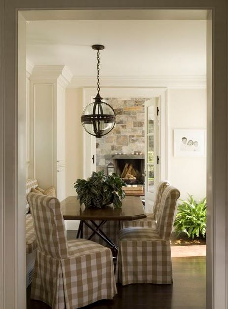 Buffalo Check Dining Chairs  Dining room ideas