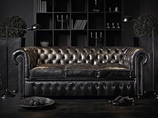 Black Chesterfield Sofa The French Bedroom Company
