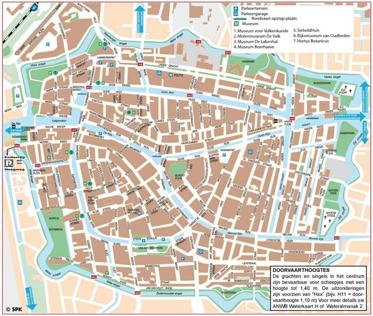 Leiden city center map Maps Pinterest Leiden and City