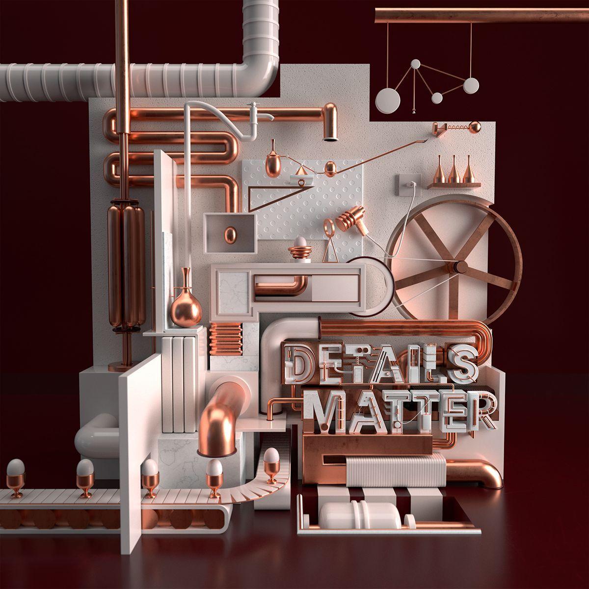 Details Matter. on Behance #3dtypography Details Matter. on Behance #3dtypography