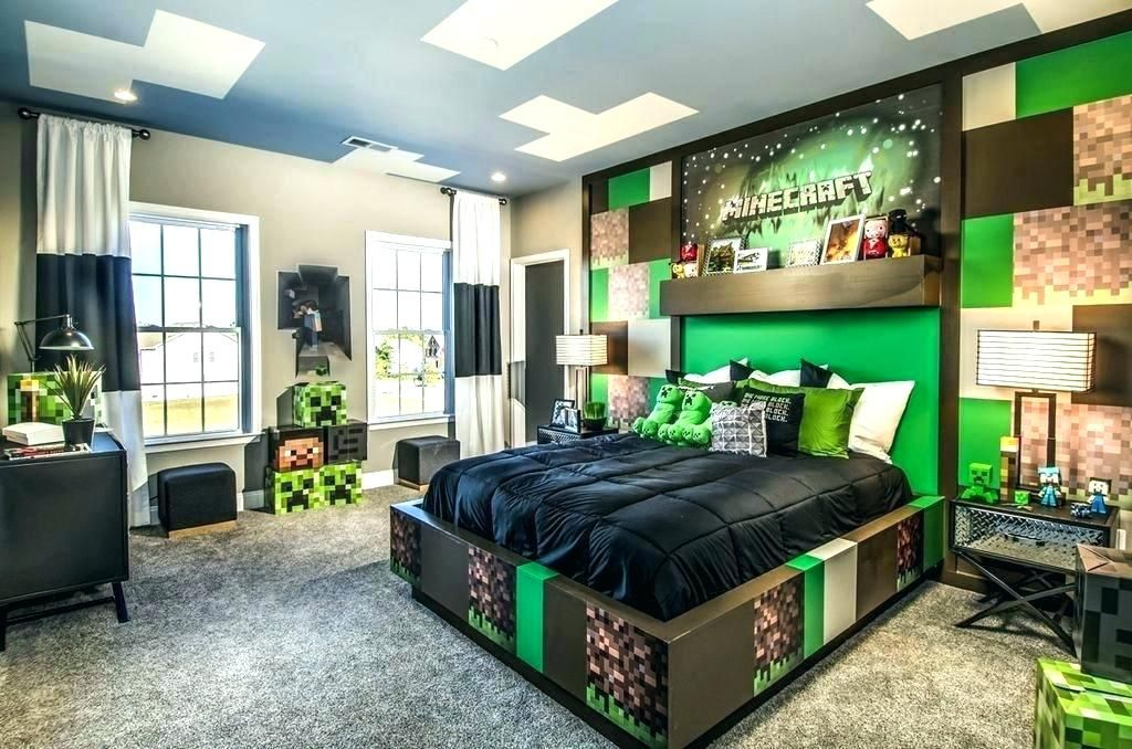 Minecraft Room Decor Ideas Bedroom Ideas Kids Bedroom Contemporary