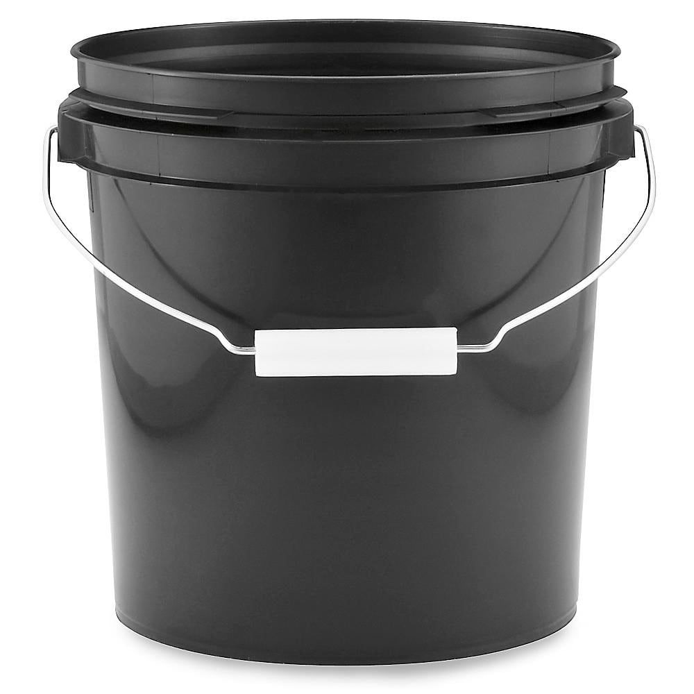Plastic Pail 1 Gallon Black S 17941bl Uline In 2020 Plastic Pail Homemade Laundry Detergent Homemade Laundry Detergent Recipes