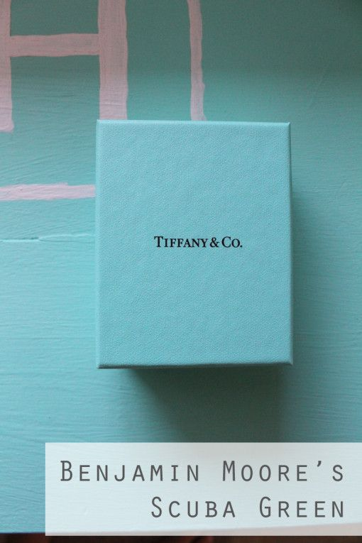 The perfect paint for Tiffany Blue from Benjamin Moore ...