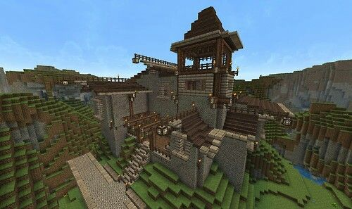 Sweet House On The Hills Minecraft Houses Cool Minecraft Houses
