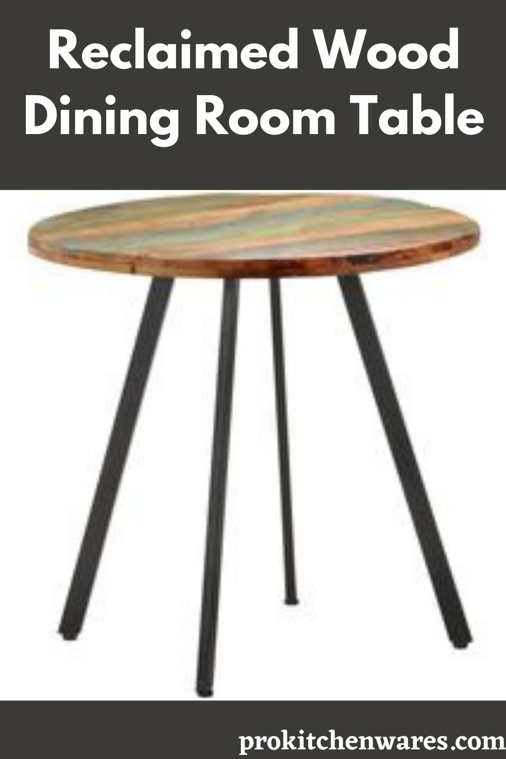 Photo of Round Dining Room Table-Reclaimed Wood