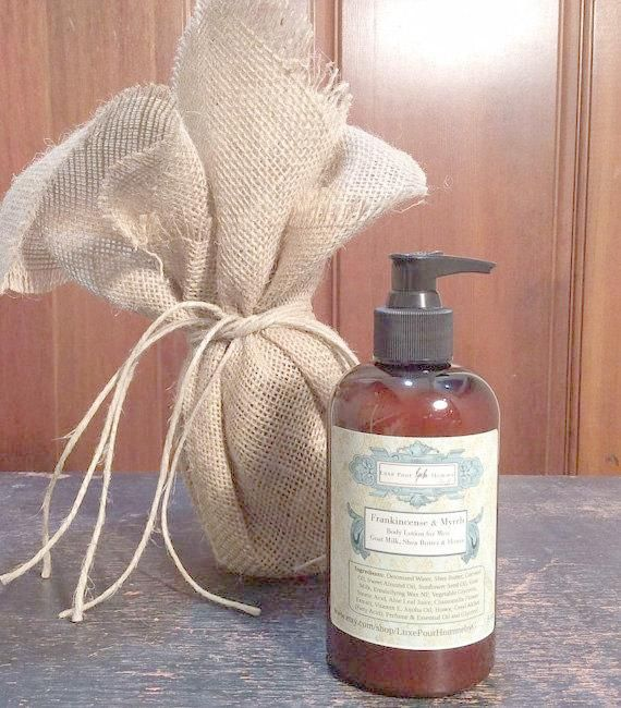 Frankincense and Myrrh Organic Body Lotion - Organic Jojoba Oil, Shea Butter and Coconut Milk - Body Lotion for Men - 9.3 oz #jojobaoil