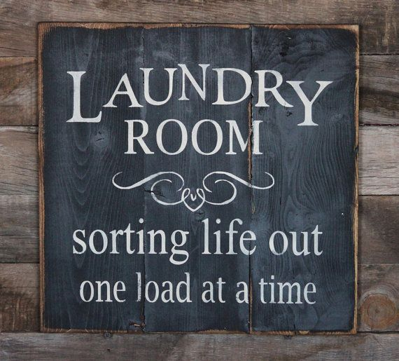 Large Laundry Room Signs Endearing Large Wood Sign Laundry Room Subway Signdustinshelves $33.00 Design Ideas
