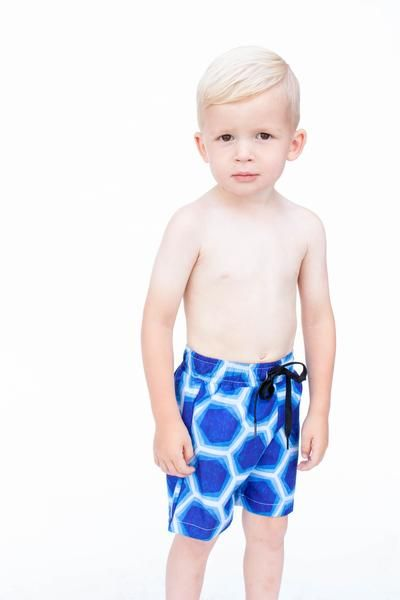 Boys blue geo swimsuit