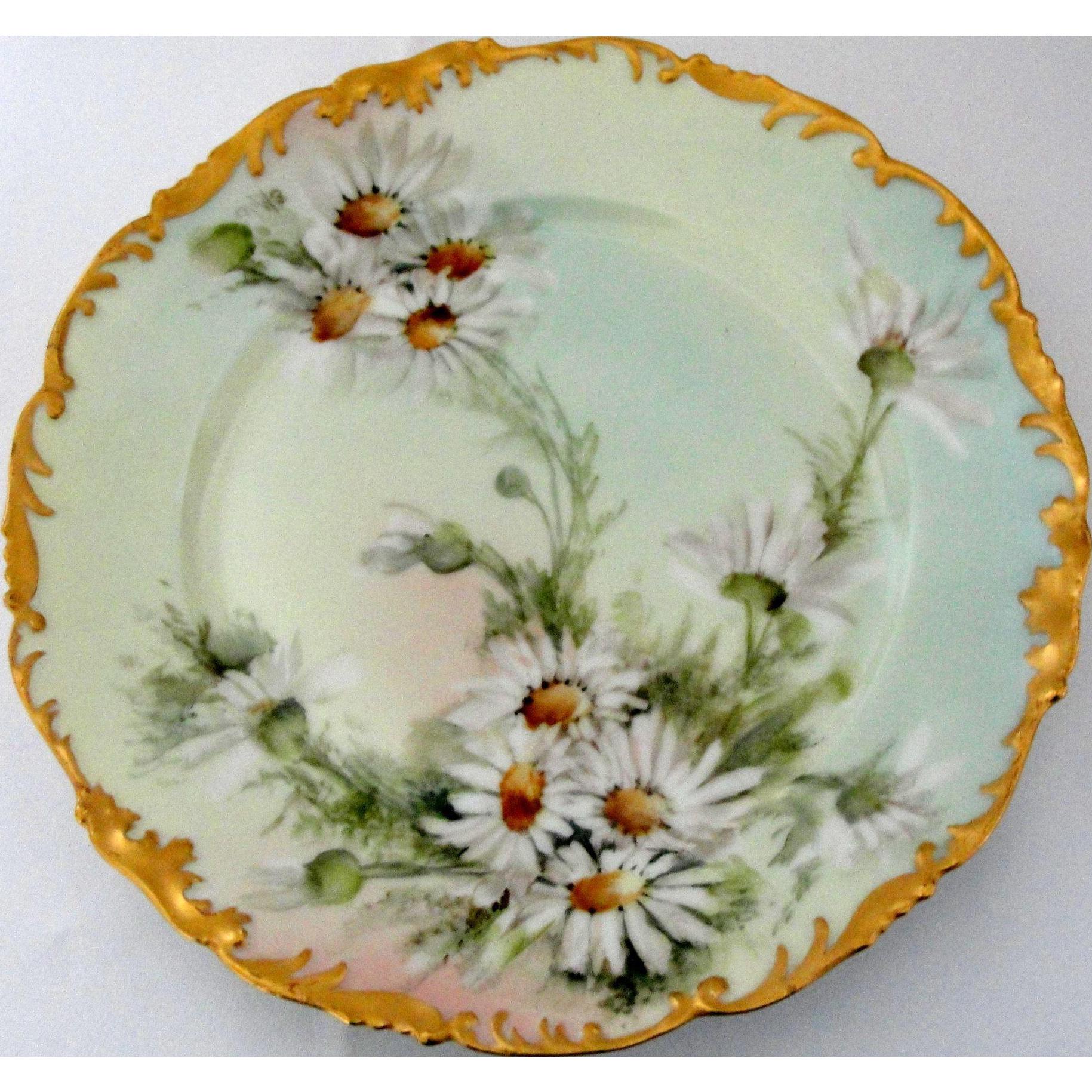 T Amp V Limoges Porcelain Plate Signed Ester Miler With