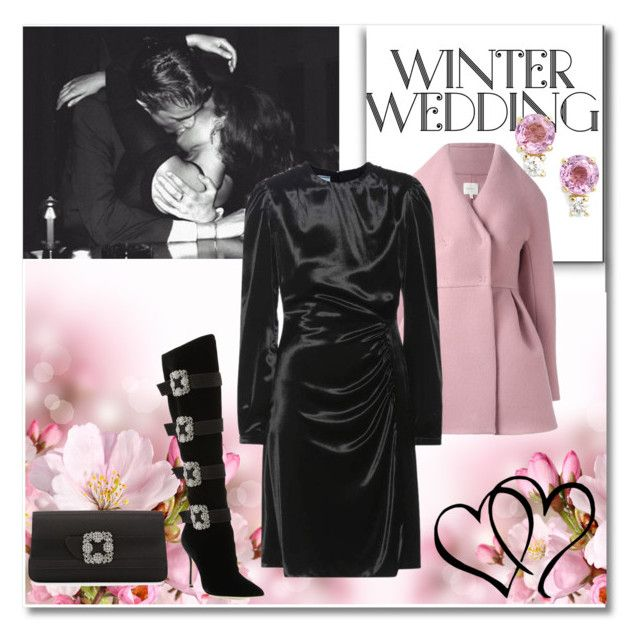"""Winter Romance"" by biljanagosicbibi ❤ liked on Polyvore featuring Jemma Wynne, Delpozo, Prada and Manolo Blahnik"