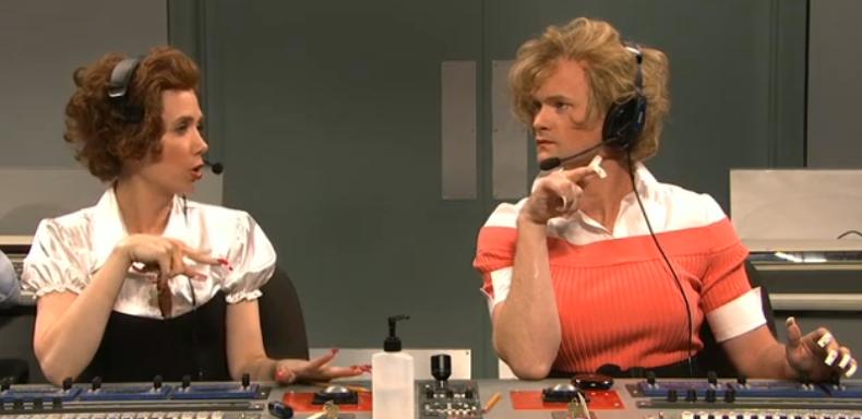 Neil Patrick Harris and Kristen Wiig as Fran and Freba of