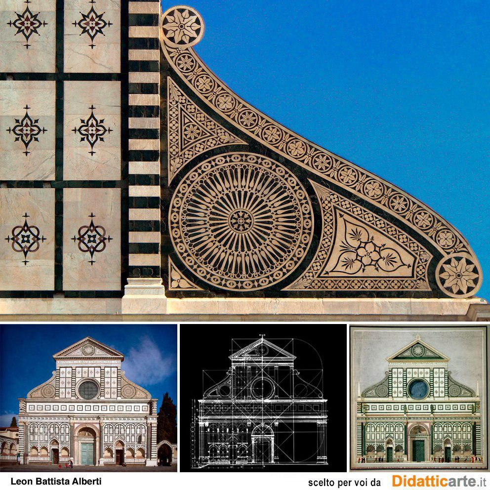 Leon battista alberti facciata della chiesa di santa for Architecture quattrocento