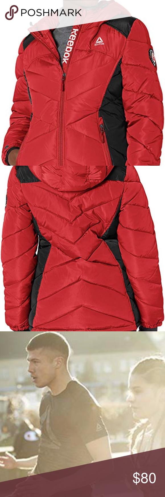 Reebok Women S Red Standard Puffer Jacket Olrb867h Lady In Red Reebok Women Active Fashion [ 1740 x 580 Pixel ]