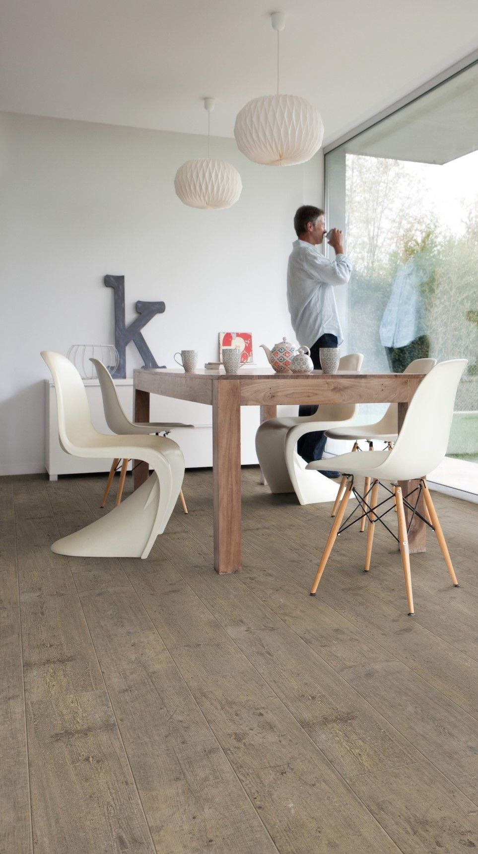 Pvc vloer Home Stick - Lugano screed XL: Zelfklevende pvc vloer. Pvc ...