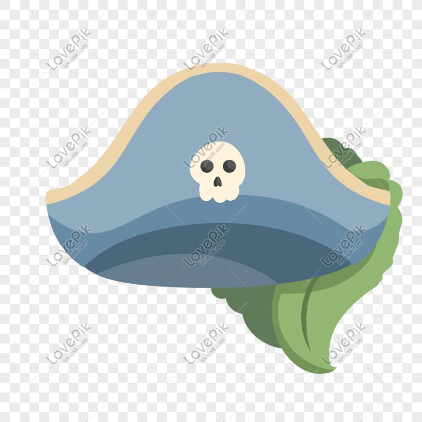 Ilustrasi Topi Bajak Laut Kartun Yang Digambar Tangan Kartun Ilustrasi Bajak Laut