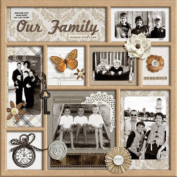 Our Family Shadow Box Heritage Scrapbook Pages Vintage Scrapbook Family Scrapbook
