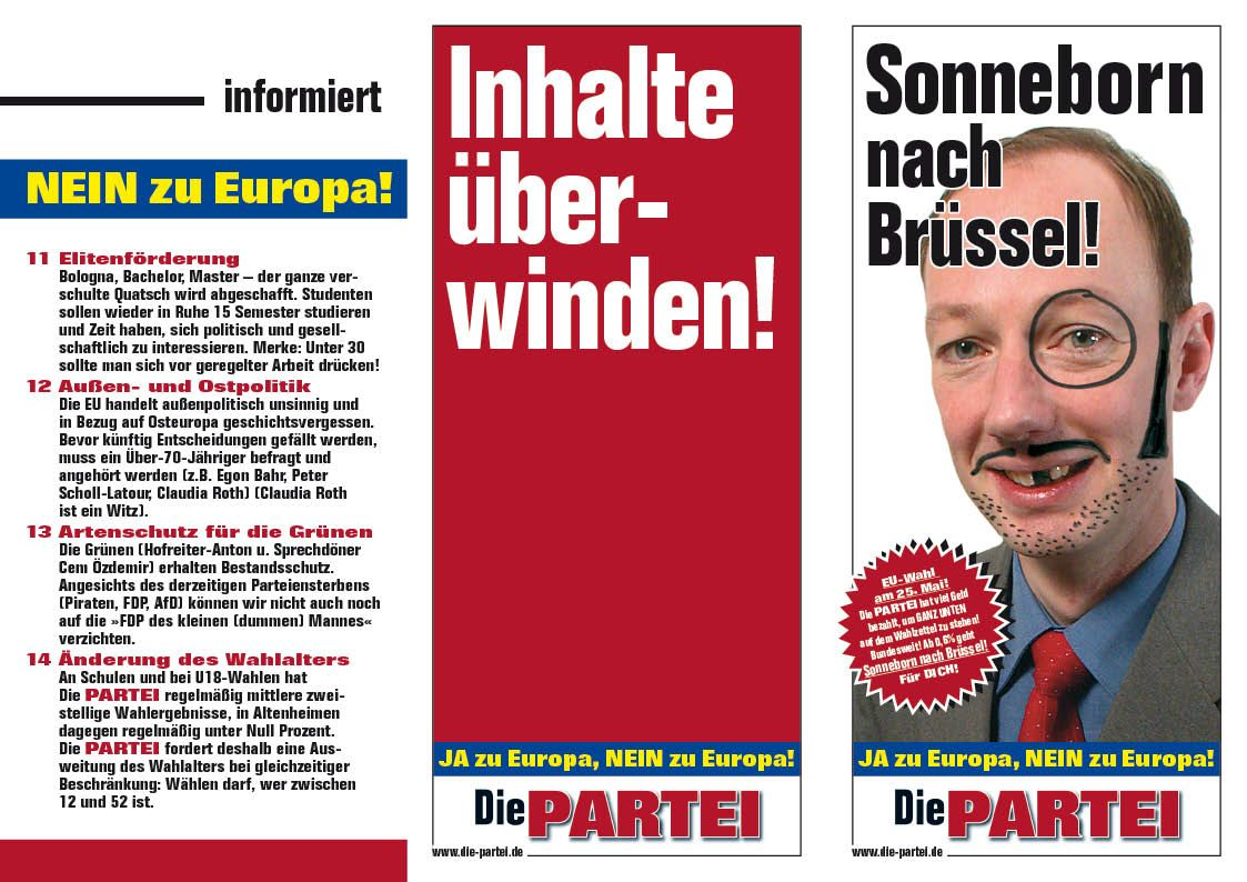 Die Partei Europawahlprogramm