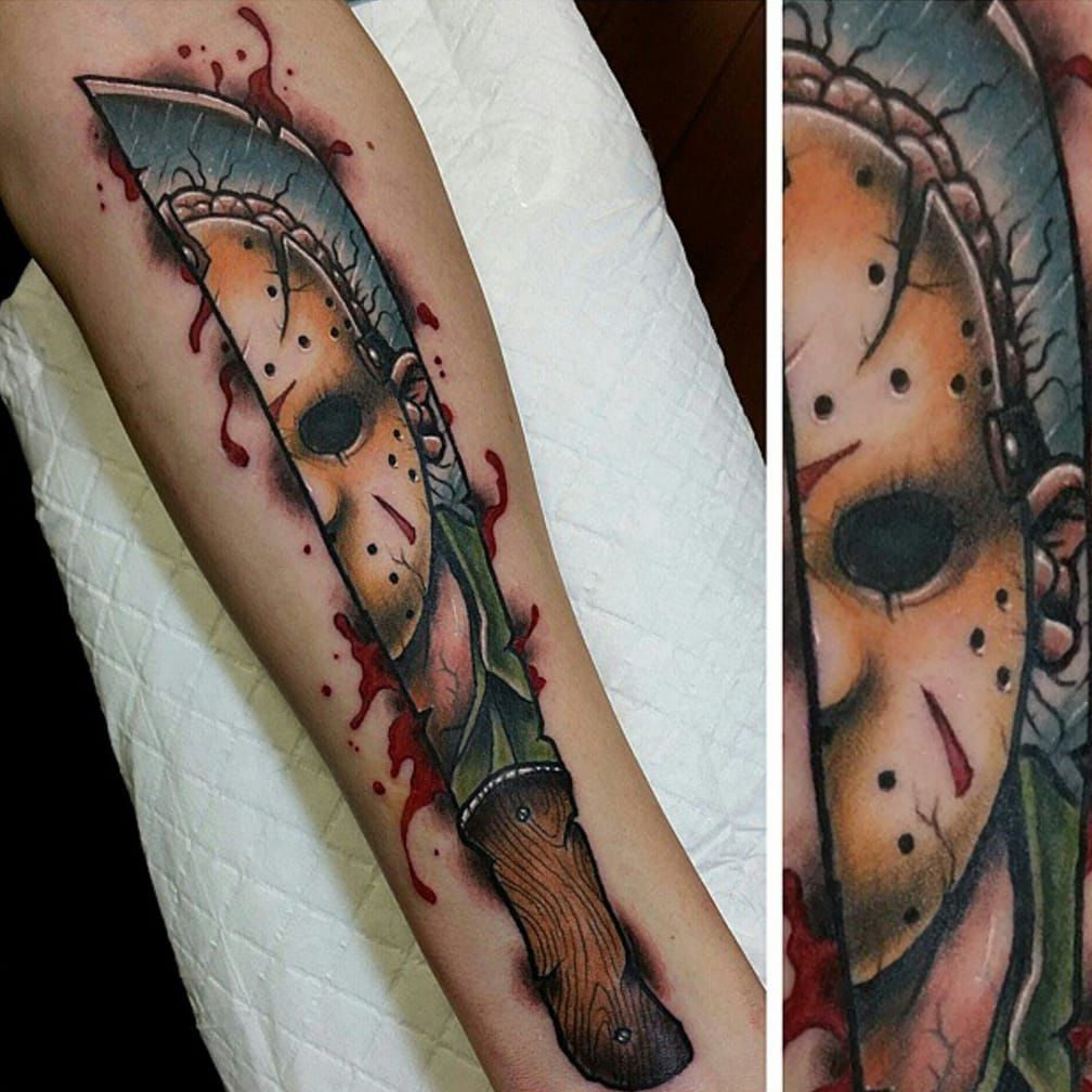 jason friday 13th tattoo tattoo sleeve pinterest 13 tattoos tattoo and tatting. Black Bedroom Furniture Sets. Home Design Ideas