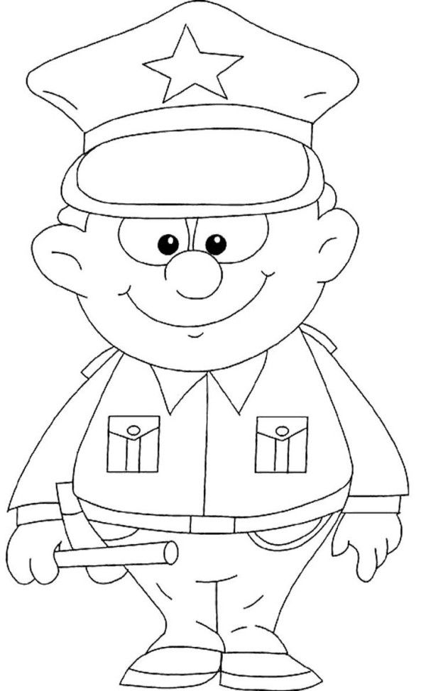 Policeman Coloring Pages | coloring pages | Pinterest | Community ...