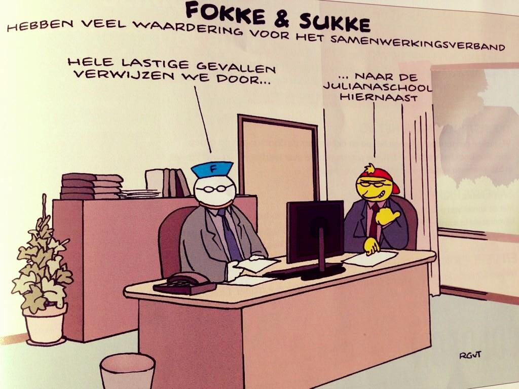 Fokke & Sukke hebben veel waardering voor het samenwerkingsverband (november 2014).