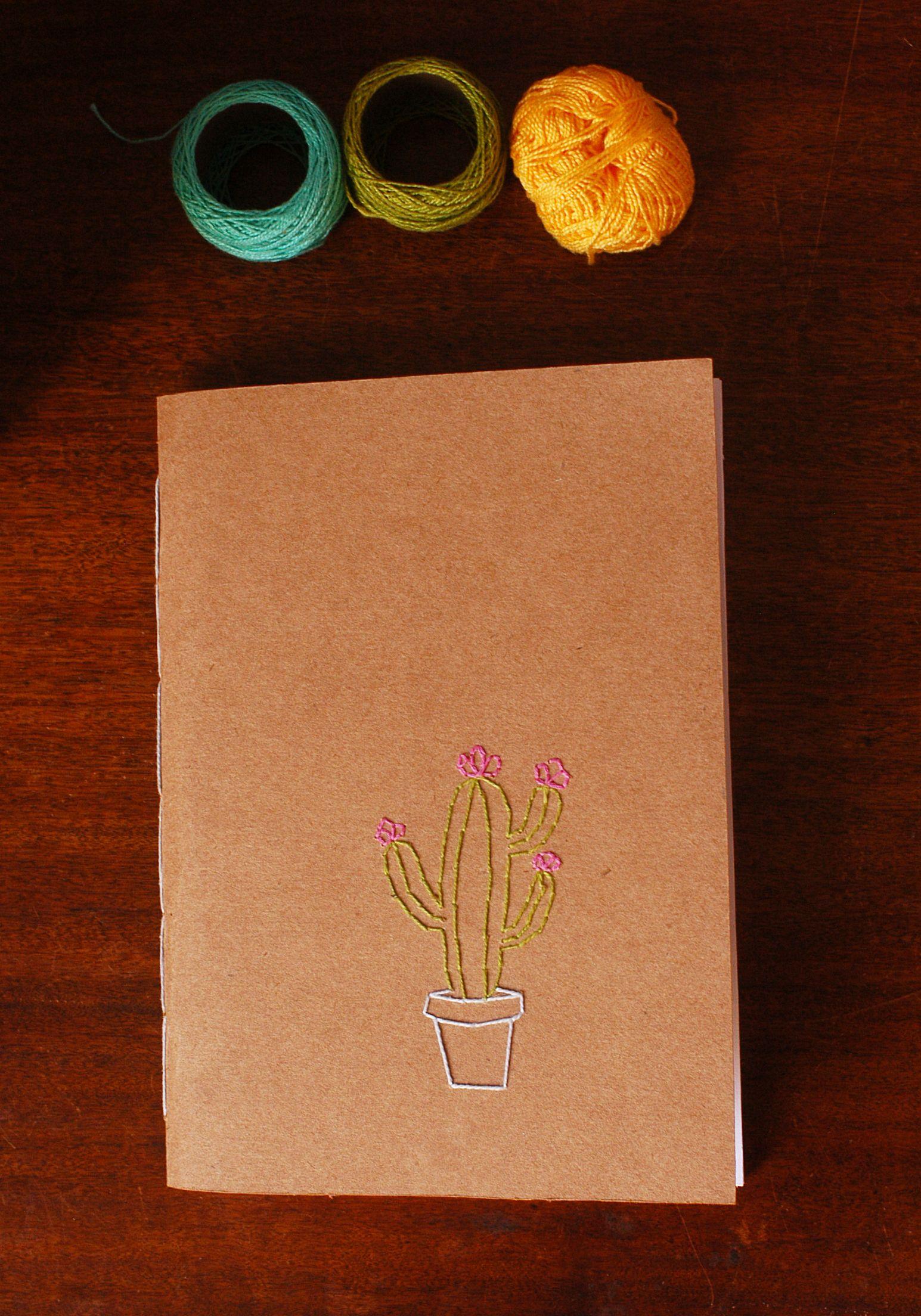 Colecao Cadernos Bordados Cactostamanho 14 5 X 21 Cm 60