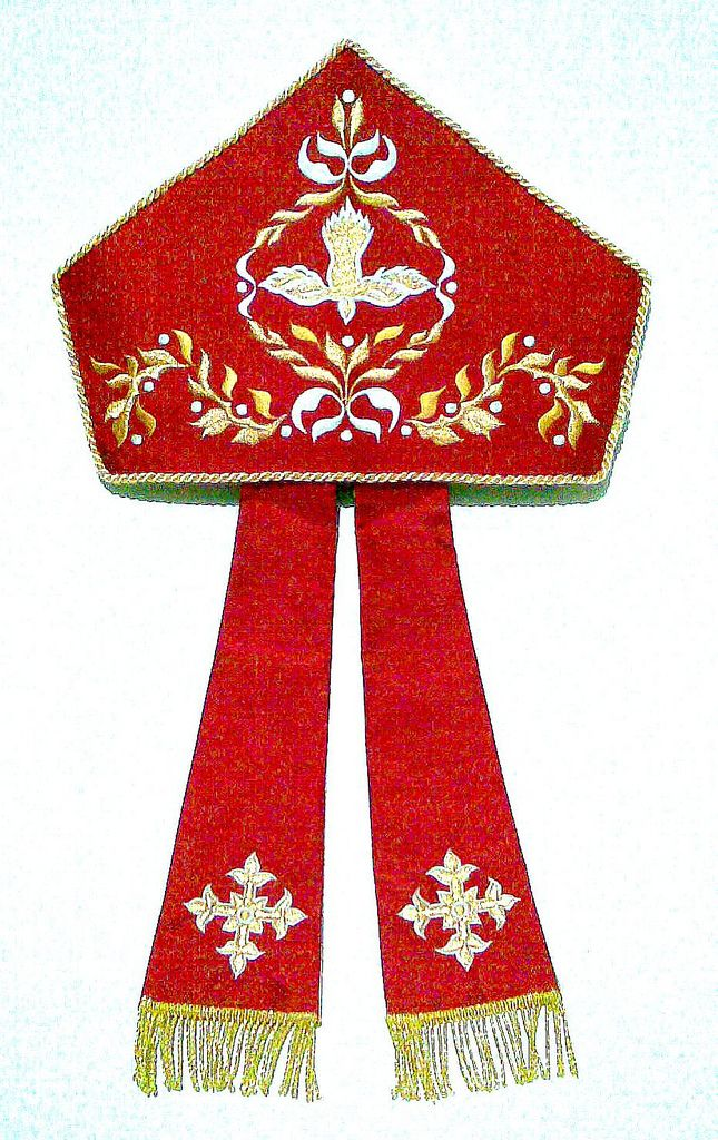 Miter - Archbishop Paciano Aniceto (San Fernando, Pampanga)   by PLUMARIA SACRED VESTMENTS