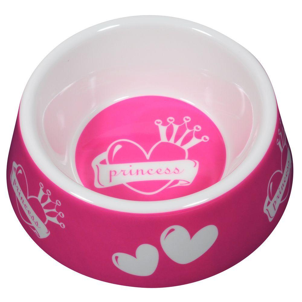 Top Paw Princess Dog Bowl Size 12 3 Fl Oz White Pink Dog