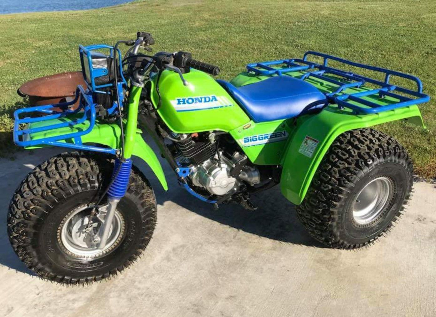 Custom 1987 Honda ATC250ES Big Green Third Wheel, Four Wheelers, Atc,  Dirtbikes,