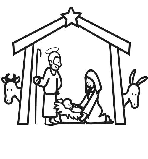 Coloriage Creche Noel Dessin Jesus Coloring Pages Xmas Et Nativity