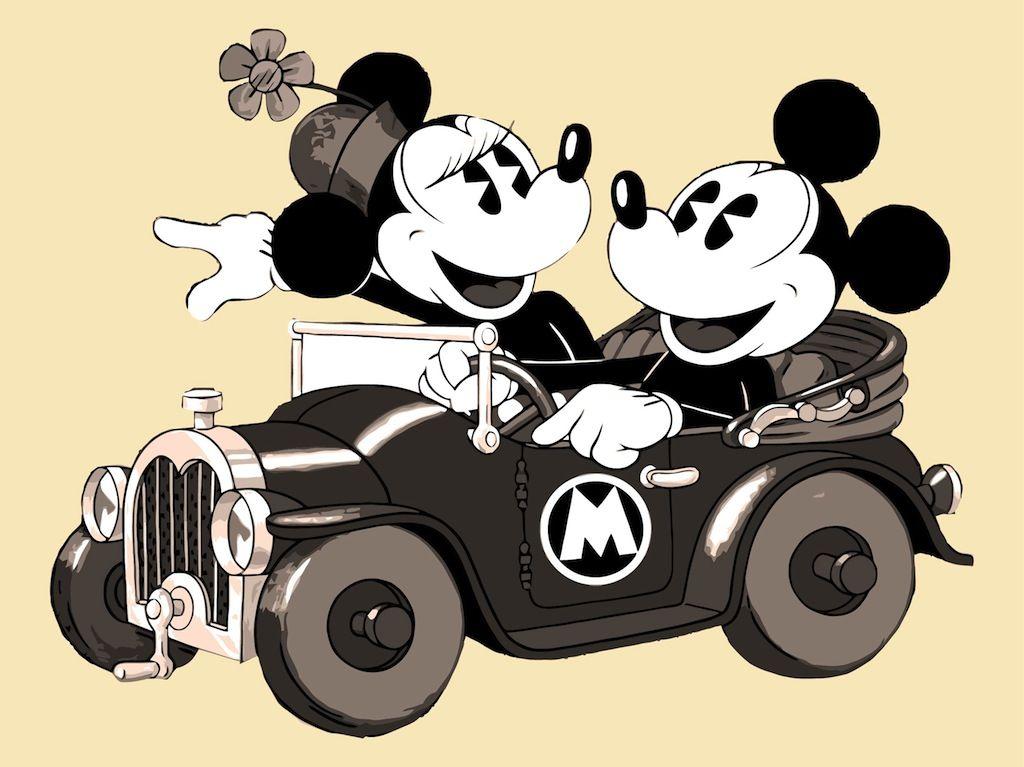 old mickey and minnie mouse wallpaper wwwpixsharkcom