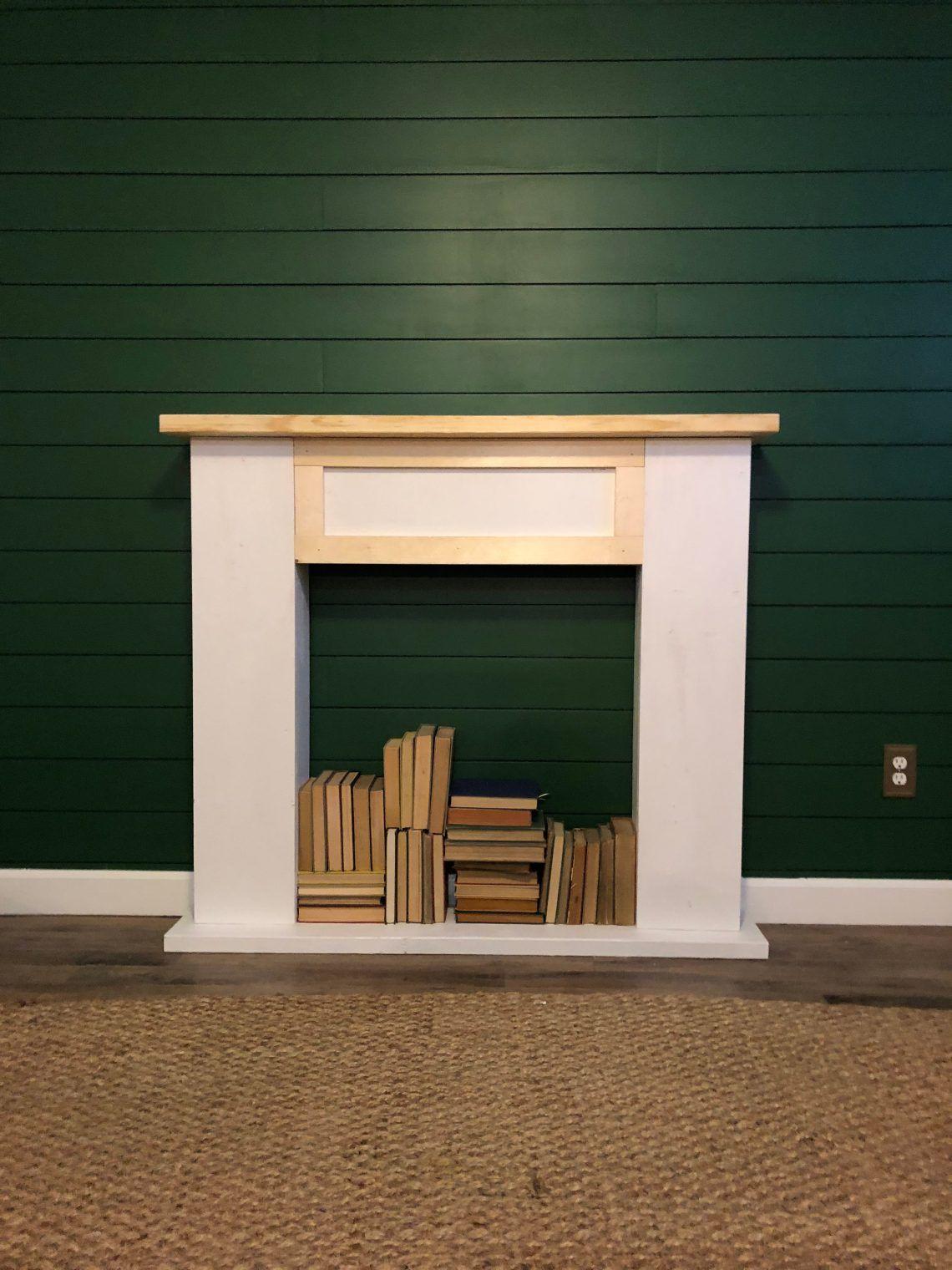 DIY Simple Faux Fireplace | Faux fireplace, Diy fireplace ...