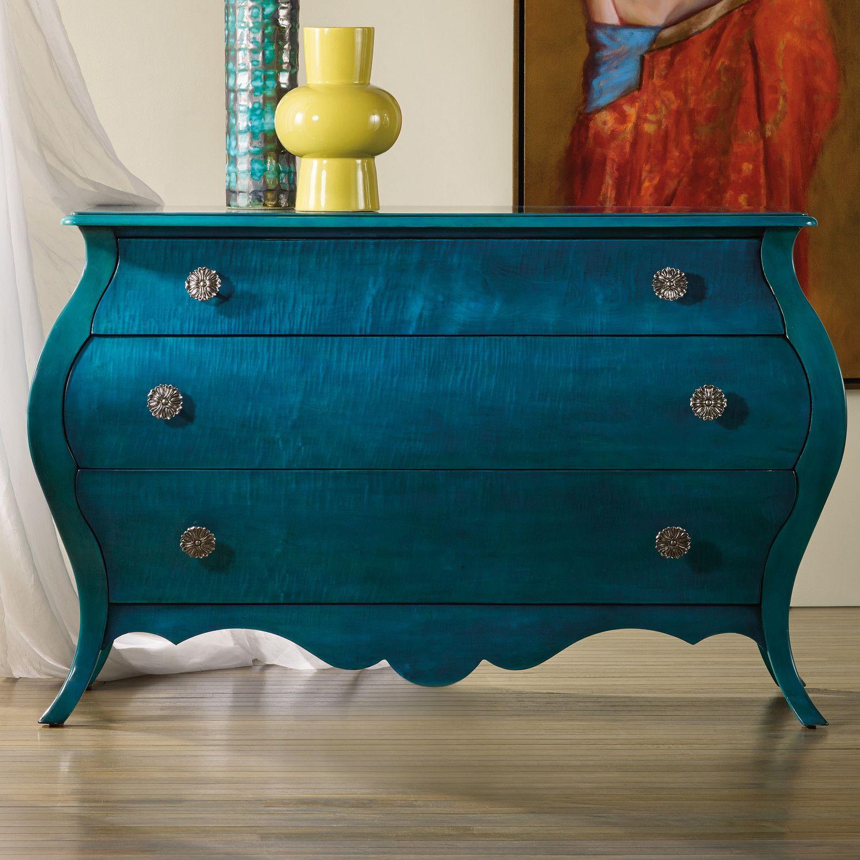 Hooker Furniture Melange Nina Bombe 3 Drawer Chest
