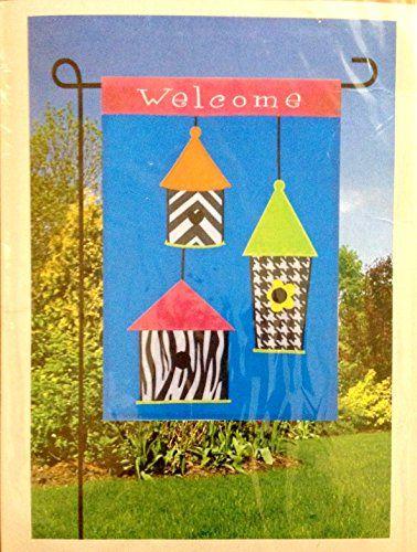 Decorative Everyday Applique Garden Flag - Birdhouse Welcome Meadow Creek http://www.amazon.com/dp/B00N44QD1Y/ref=cm_sw_r_pi_dp_3CBSub0RAV610