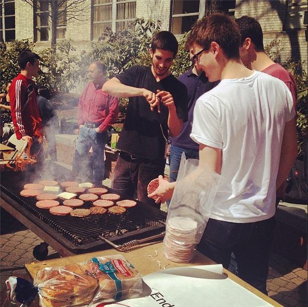 April means end of semester BBQ's. Alma mater, Bbqs