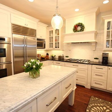 Chicago Kitchen Remodeling Decor white carrera marble countertops design, pictures, remodel, decor