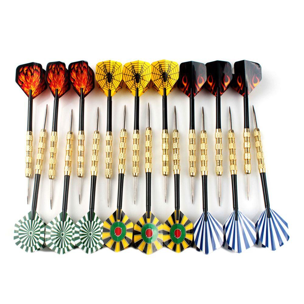 18 stks Stalen Tip Dart Darts Met Mooi Vlucht Vluchten Gooien speelgoed Professionele Stalen Tip Darts Vlucht Stalen Tip Dart Nieuwe collectie