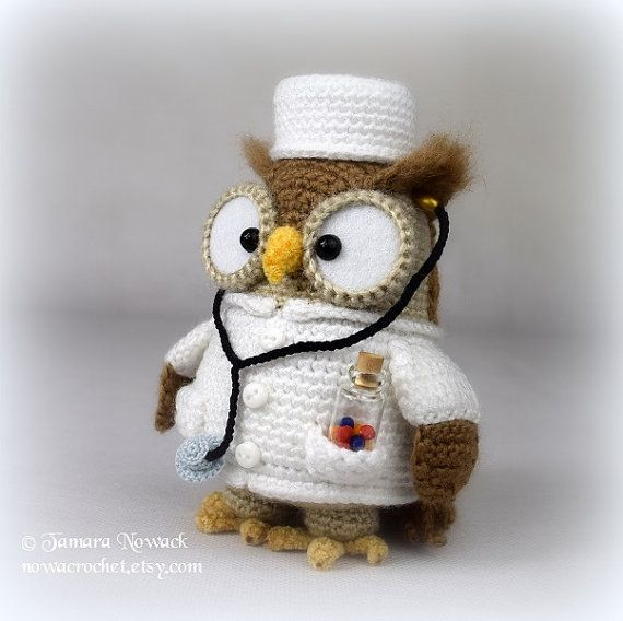 Doctorette the owl - amigurumi PDF crochet pattern ebook | Figuren ...