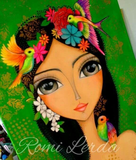 Romi lerda was mir gef llt pinterest acrylbilder - Acrylbilder malen vorlagen ...