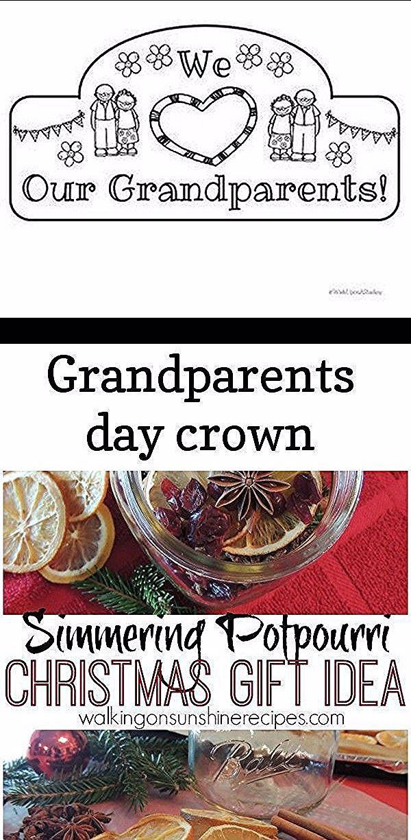 Grandparents day crown #grandparentsdaygifts Grandparents Day Crown #Grandparents Simmering Potpourri from Walking on Sunshine Recipes.  Your friends and family will love this gift idea of simmering potpourri for Christmas this year.  The jars make the perfect hostess gift too! Easy Kid-Made Father's Day Gift: Popsicle Stick Fix-It Sign - Father's day gift DIY - gift for dad from kids #grandparentsdaygifts Grandparents day crown #grandparentsdaygifts Grandparents Day Crown #Grandparents Simmerin #grandparentsdaygifts