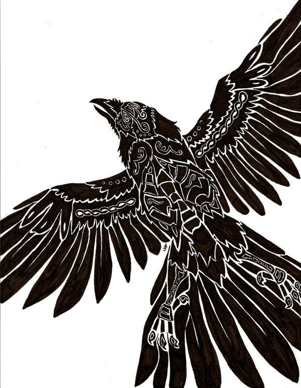 Raven Viking Tattoo: Http://anima-lux-artifex.deviantart.com/art/Flight-of-Bran