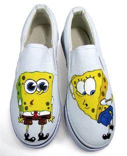 de65ebb2fa17f Spongebob Squarepants hand painted shoes. | Shoes! in 2019 | Shoes ...