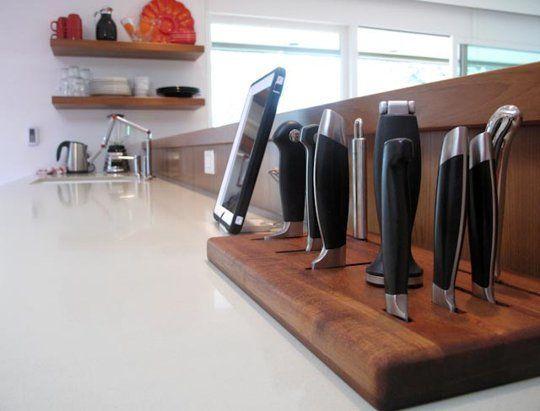 Smart Knife Storage Design In-Counter Knife Block DIY Pinterest
