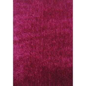 Tapis shaggy Lilou framboise, 230x160 cm | Leroy Merlin ...
