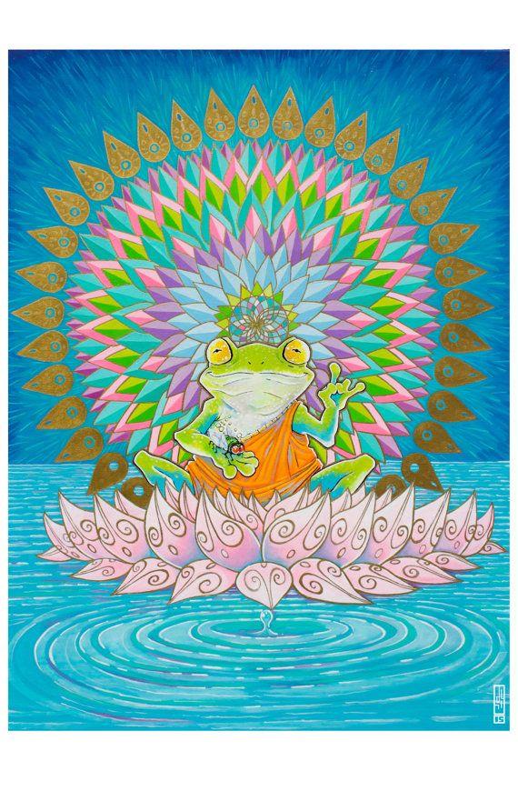 "Buddha Frog ""Resisting Temptation"" -Photo Matte Prints * Pre-Order * Oct 1 2015"