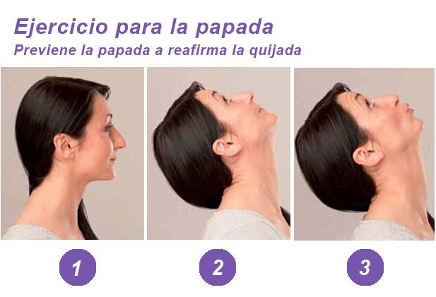 ejercicios para la papada del cuello