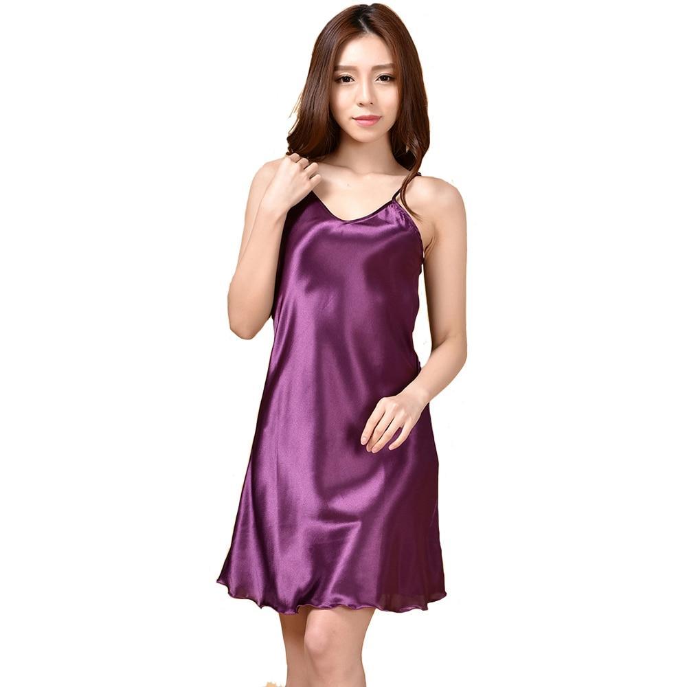 2126598779 Summer New Women s Sleepwear Female Sexy Spaghetti Strap Nightgown Plus  Size XXXL Rayon Nightdress Short Robe