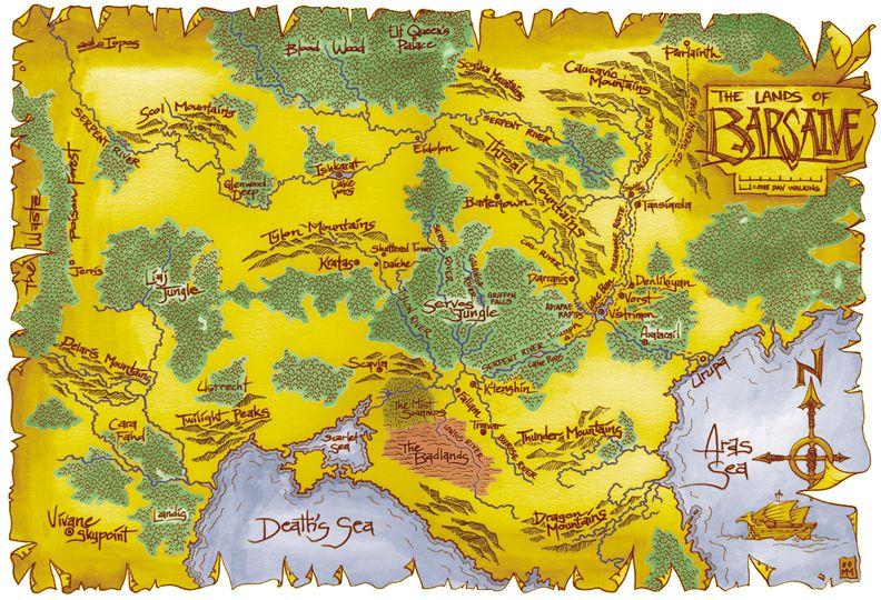 Best Map Of Barsaive Earthdawn Orte