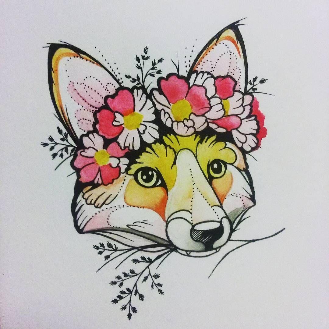 Fox Foxtattoo Foxtattoos Foxinflowers Tattooproject Tatuaz Tattoo Tattooed Sfvaetattoo Miesonajlepiejsmakujezmiesem Vege Fox Art Drawings Fox Tattoo
