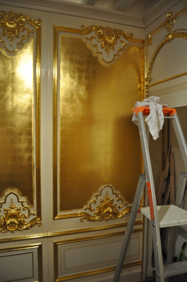 Gold Leaf Walls | How To Redo | Pinterest | Leaves, Walls and Interiors